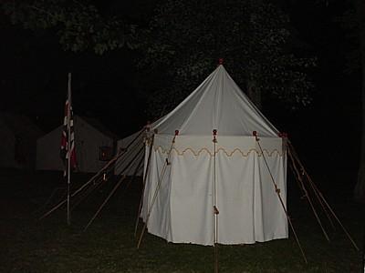 re-enactors' camp