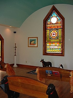 interior of the Dog Chapel