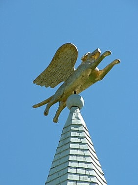 the dog steeple at the Dog Chapel