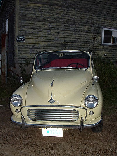 a well tended Morris Minor